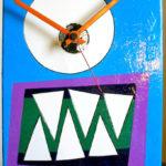 Monstre o'clock - acrilico e smalti su alluminio (cm 40 x 20)