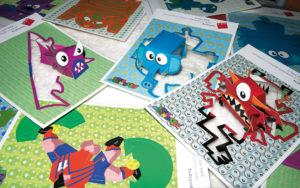 Cartoline preintagliate con figure facilmente assemblabili