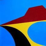 Playa de Las Salinas - Acrilico e smalti su faesite cm 40x40