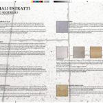 Doppia pagina del catalogo esplicativa dei materiali estratti dalla cava di Apricena