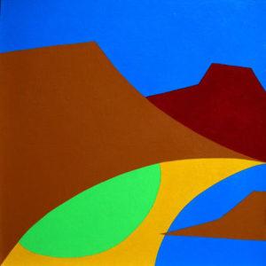 Playa de los Chiclos - Acrilico e smalti su faesite cm 40x40