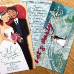 Invito per il matrimonio, per il ristorante e per la festa di celebrazione